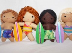 Surfer Doll and Ornaments